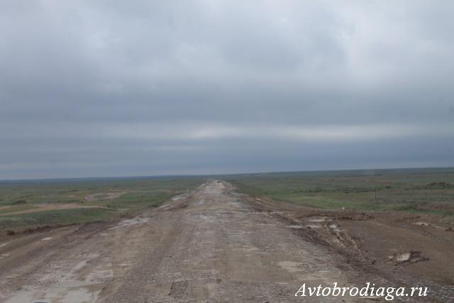 Дорога в Казахстане